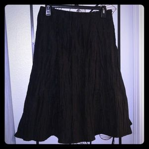 MSK black tafetta skirt
